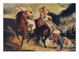 Combat of the Giaour and the Pasha Posters by Eugene Delacroix