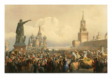 Announcement of the Coronoation in Red Square Prints by Vasily Timm