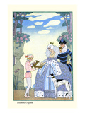 Elizabethan England Prints by George Barbier