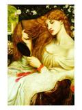 Lady Lilith Giclee-tryk i høj kvalitet af Dante Gabriel Rossetti