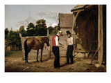 Bargaining for a Horse Premium Giclee Print by William Sidney Mount