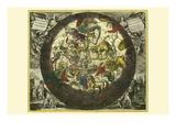 Hemisphaerium Stellatum Boreale Cum Subiecto Prints by Andreas Cellarius