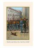 "Guard Mount at Munich - 2nd Regiment of Infantry - Body Guards ""Crown Prince"" Prints by G. Arnold"