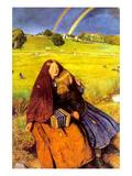 The Blind Girl Affiche par John Everett Millais