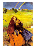 The Blind Girl Poster by John Everett Millais
