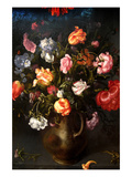 Still Life of a Vase with Flowers Premium Giclee Print by Jacob Gossamer