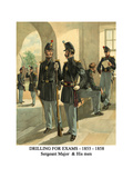Drilling for Exams - 1855 - 1858 - Sergeant Major and His Men Posters by Henry Alexander Ogden
