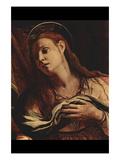Christ and Maria Magdalena Detail Plakater af Agnolo Bronzino