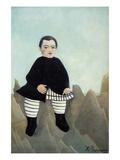 Boy on the Rocks Plakater af Henri Rousseau