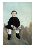 Boy on the Rocks Prints by Henri Rousseau