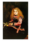 A Souvenir of Velasquez - a Little Girl with a Lemon Sprig Prints by John Everett Millais