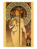 Trappistine Liquors Poster af Alphonse Mucha