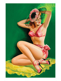 Flirt Magazine; Pinup with Hat Premium Giclee Print by Peter Driben