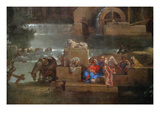 Landscape with the Rest on the Flight into Egypt Posters by Sebastien Bourdon