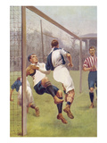 Footballer Incidents - Charge Through Prints by S.t. Dadd