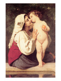 The Kiss Art by William Adolphe Bouguereau
