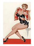 Wink Magazine; Silk Stockings and High Heels Premium Giclee Print by Peter Driben