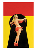 "Whisper Magazine; ""Keyhole Pinup with Bandana"" Posters by Peter Driben"