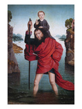 Saint Christopher and the Infant Christ Posters by Dieric Bouts