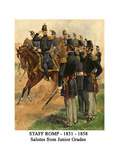 Staff Romp - 1851 - 1858 - Salutes from Junior Grades Posters by Henry Alexander Ogden