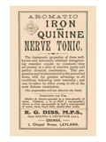 Aromatic Iron and Quinine Nerve Tonic Posters