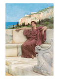 Resting Female Print by Sir Lawrence Alma-Tadema