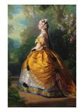 The Empress Eugénie (Eugénie De Montijo, 1826–1920, Condesa De Teba) Posters by Franz Xaver Winterhalter