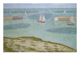 Port-En-Bessin, Entrance to the Harbor Print by Georges Seurat