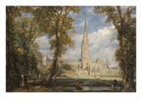 Salisbury Cathedral from the Bishop's Grounds Premium Giclee Print by John Constable