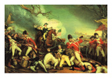 Death of General Mercer at the Battle of Princeton Against the Hessians Photo by John Trumbull
