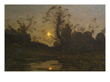Moonrise Posters by Henri-Joseph Harpignies