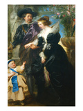 Rubens, His Wife Helena Fourment and One of the their Children Kunstdrucke von Peter Paul Rubens