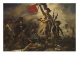 Liberty Leading the People Posters par Eugene Delacroix