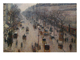The Boulevard Montmartre on a Winter Morning Reproduction giclée Premium par Camille Pissarro