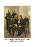 Full Dress General Staff - 1888 - Big Mustaches are Rank Prints by Henry Alexander Ogden