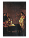 Christ in Front of the High Priest Premium Giclee Print by Gerrit van Honthorst