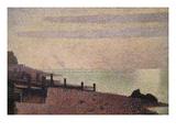 Evening, Honfleur Posters van Georges Seurat
