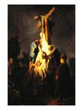 Kreuzigung Kunstdrucke von  Rembrandt van Rijn