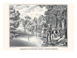 American Sporting Scene: Trout Fishing Art by  John Walsh & Co