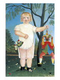 Child with Puppet Prints by Henri Rousseau