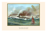 Captive Balloon on Torpedo Boats in Practice Print by G. Arnold