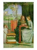 Childhood of the Virgin Mary Prints by Dante Gabriel Rossetti