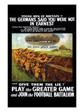Play the Greater Game Posters par Riddle & Co, Johnson