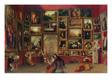Gallery of the Louvre Premium Giclee Print by Samuel F. B. Morse