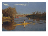 Champion Single Sculls - Max Schmidt Prints by Thomas Eakins