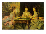 Hearts are Trumps Poster von John Everett Millais