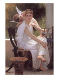 Work Interrupted Poster by William Adolphe Bouguereau