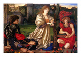 La Chant D'Amour; the Song of Love Posters by Sir Edward Coley Burne-Jones