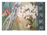 Detail from Maude Adams as Joan of Arc Prints by Alphonse Mucha