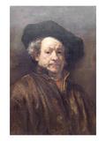 Self Portrait Rembrandt Art by  Rembrandt van Rijn